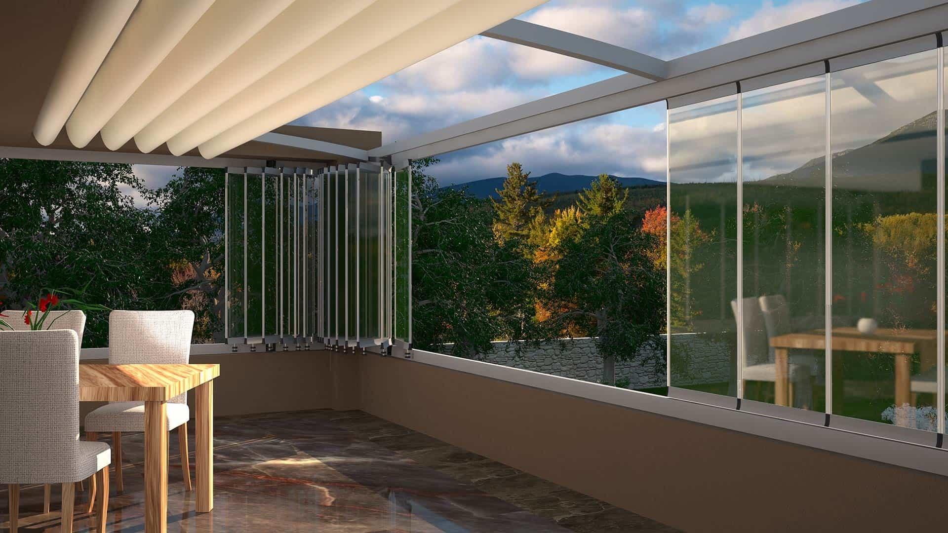 prestij seri paslanmaz aksesuarli cam balkon