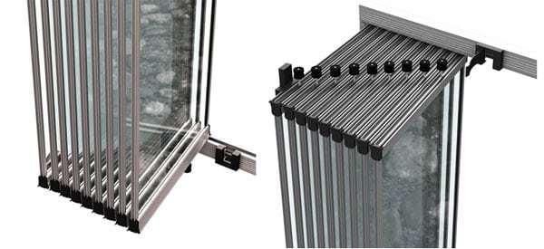 bella seri cam balkon alt ve ust katlanır kose
